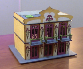 How to Design and Laser Cut a Scale Model Building for Tabletop Terrain