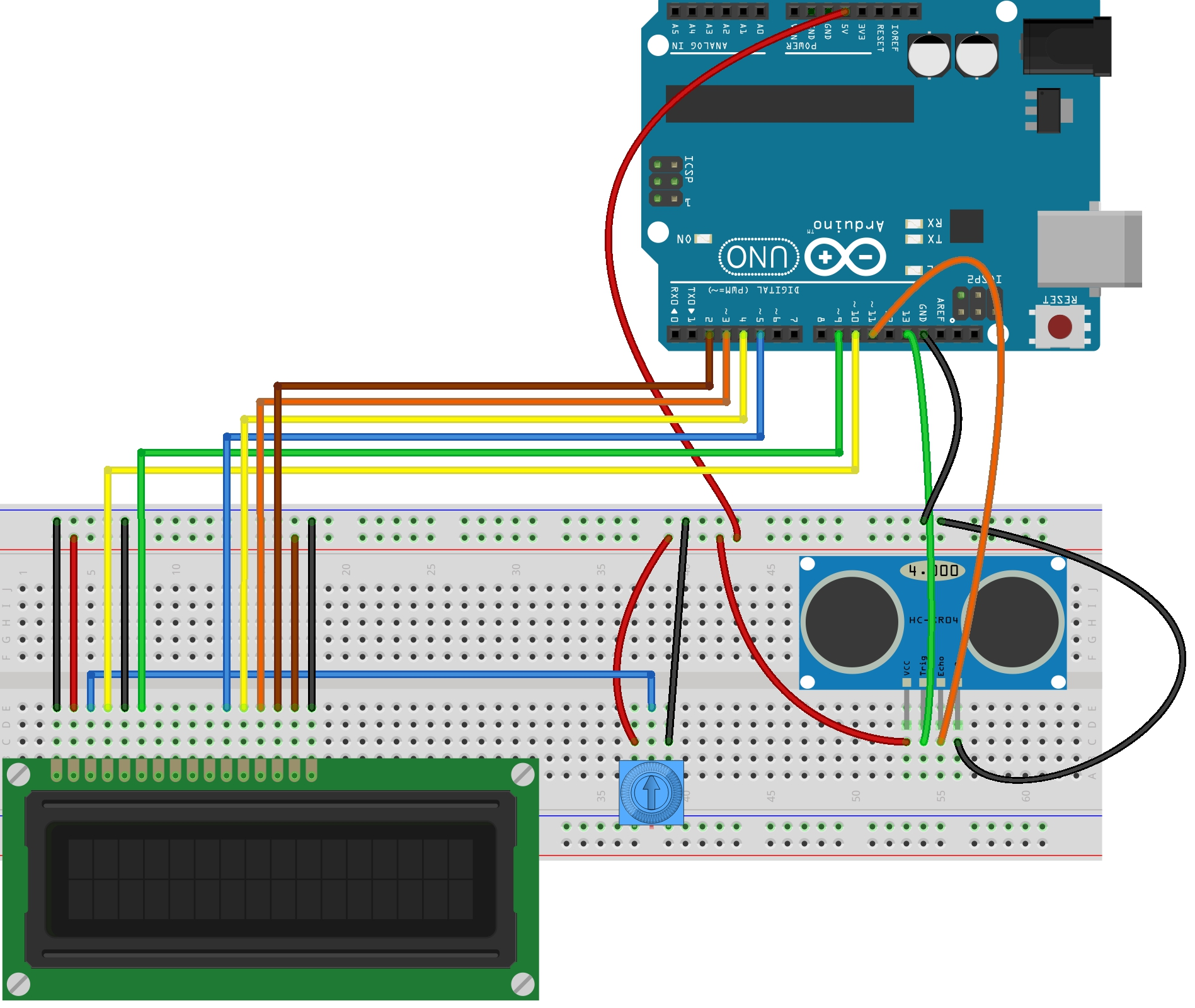 Picture of Arduino Ultra Sonic Distance Sensor