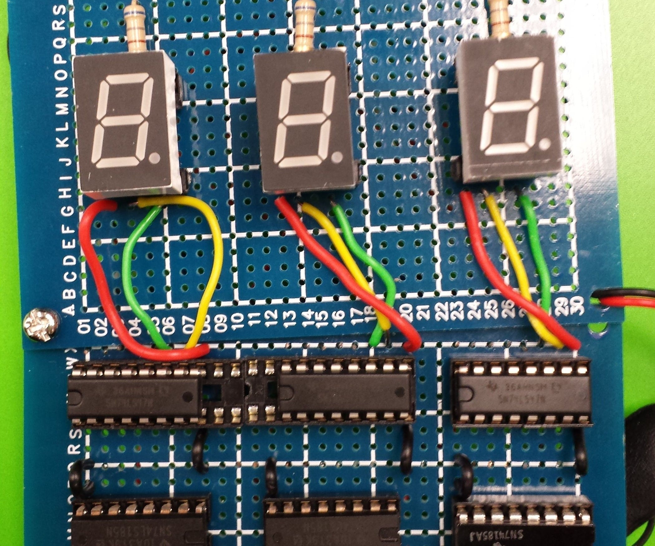 Binary To Bcd Counter Using Ttls 74ls185 8 Steps Bit Converter Circuit