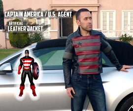 Captain America / US Agent Artificial Leather Jacket