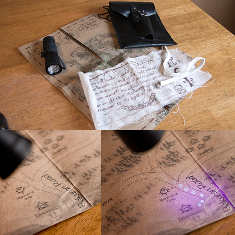 Picture of Custom Marauder's Map Variation With Disappearing Footprints