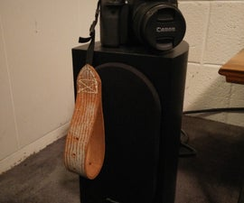 Recycled Leather Belt Camera Strap, (of the wrist variety)