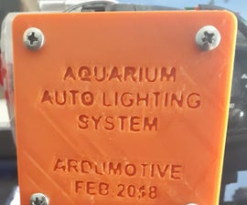 Arduino Based Aquarium Auto Lighting System