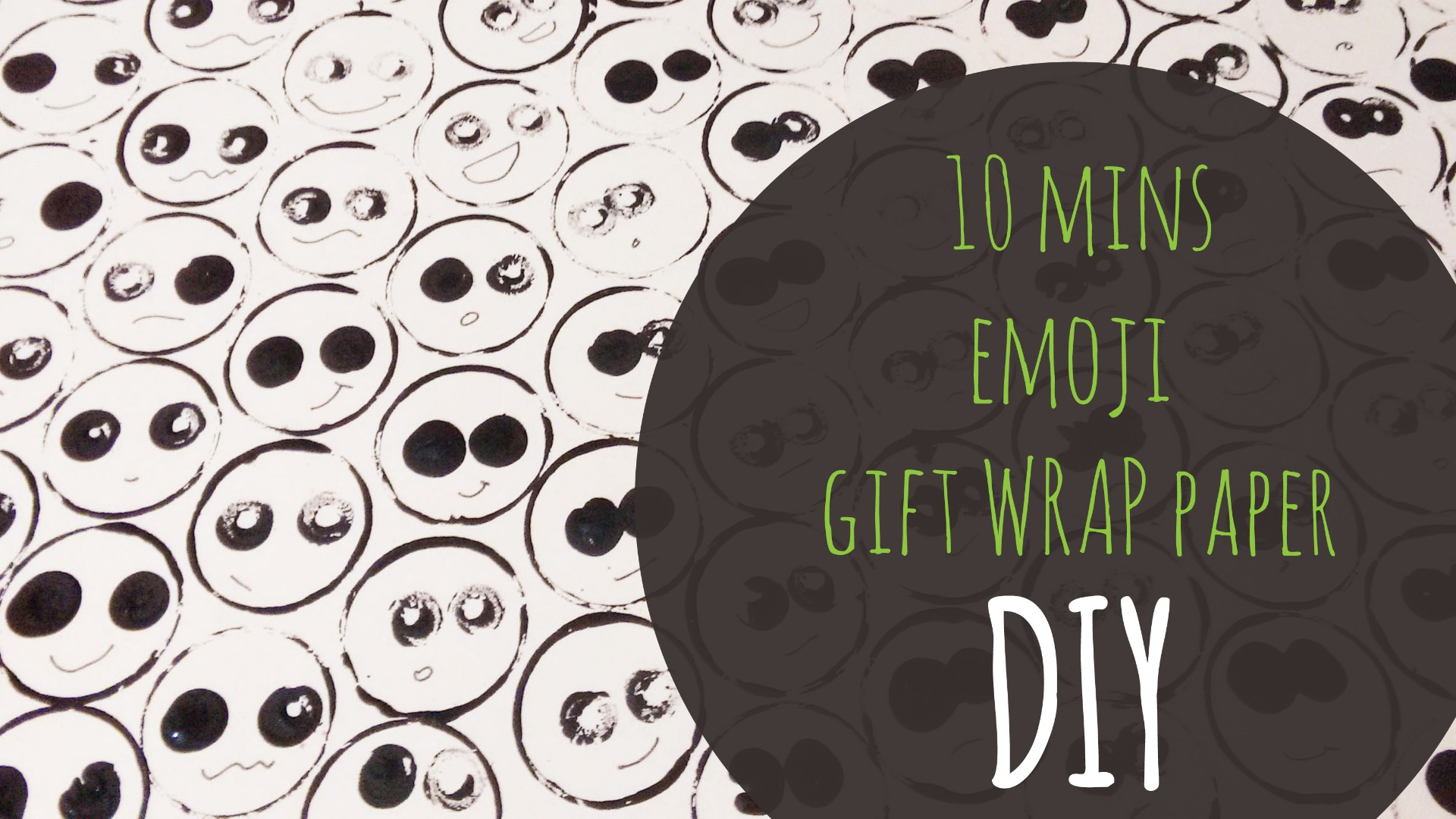 Picture of Emoji Gift Wrap