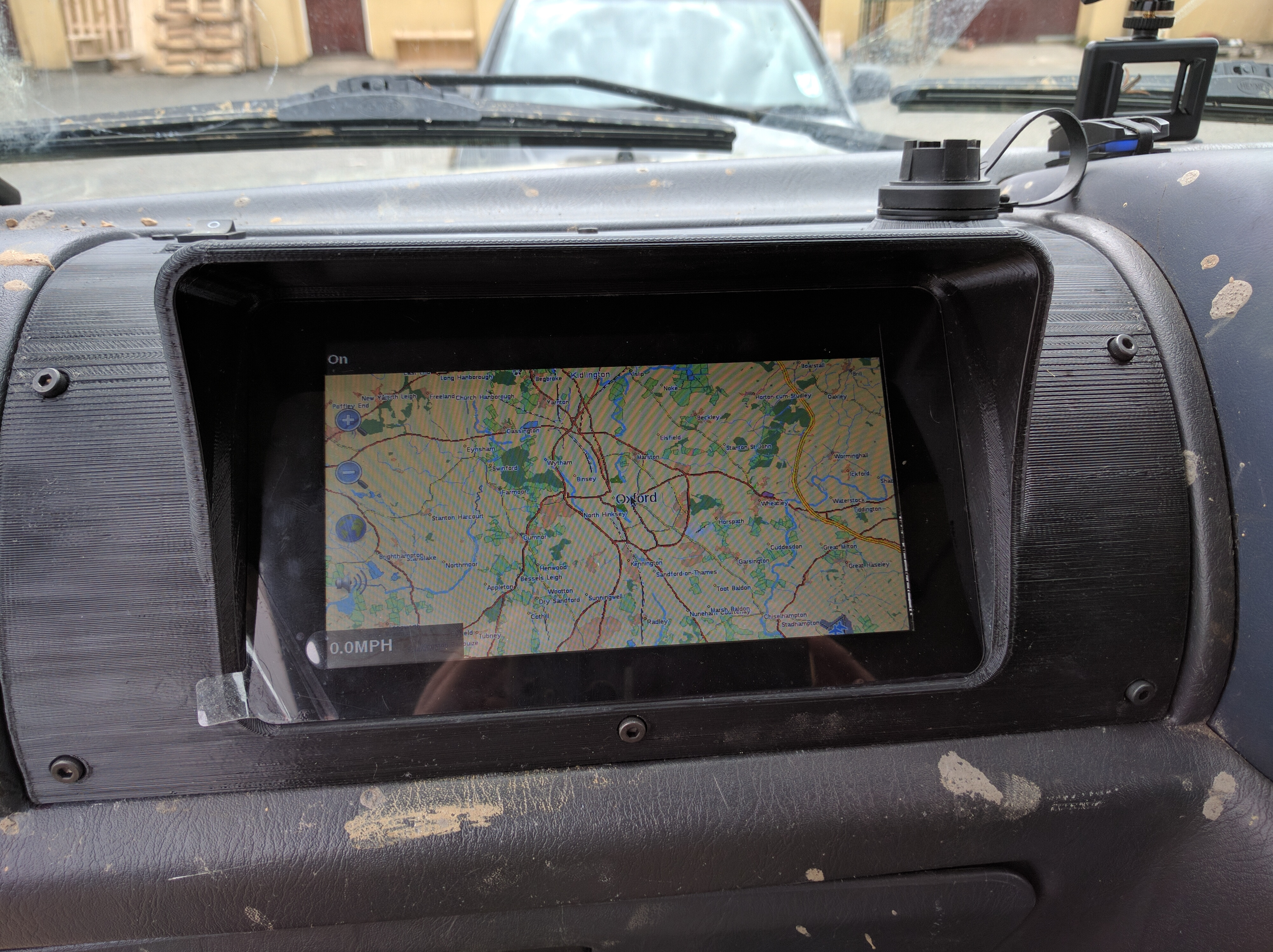 Picture of 3D Printed In-Dash GPS Navigation - Raspberry Pi 3.