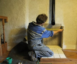 How to make your own storage heater from strawcrete and stone - Part 3 The Wall. Brico ecolo radiateur - 3. Bricolaje calentador ecológico - 3.