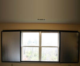 """""""Barn Door"""" Style Insulating Blackout Shade for Apartements"""