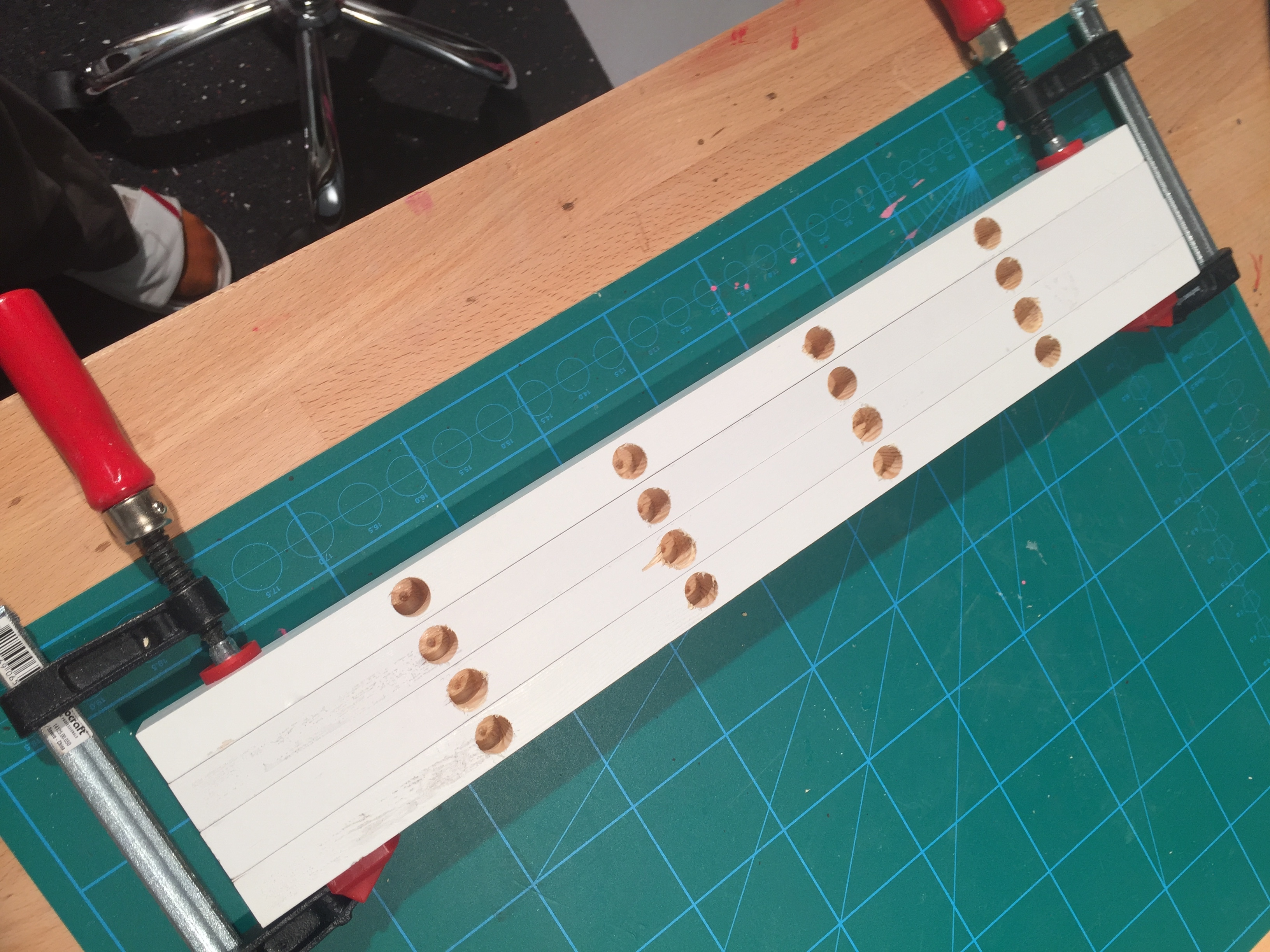 Picture of Drill the Holes for the Side Bars