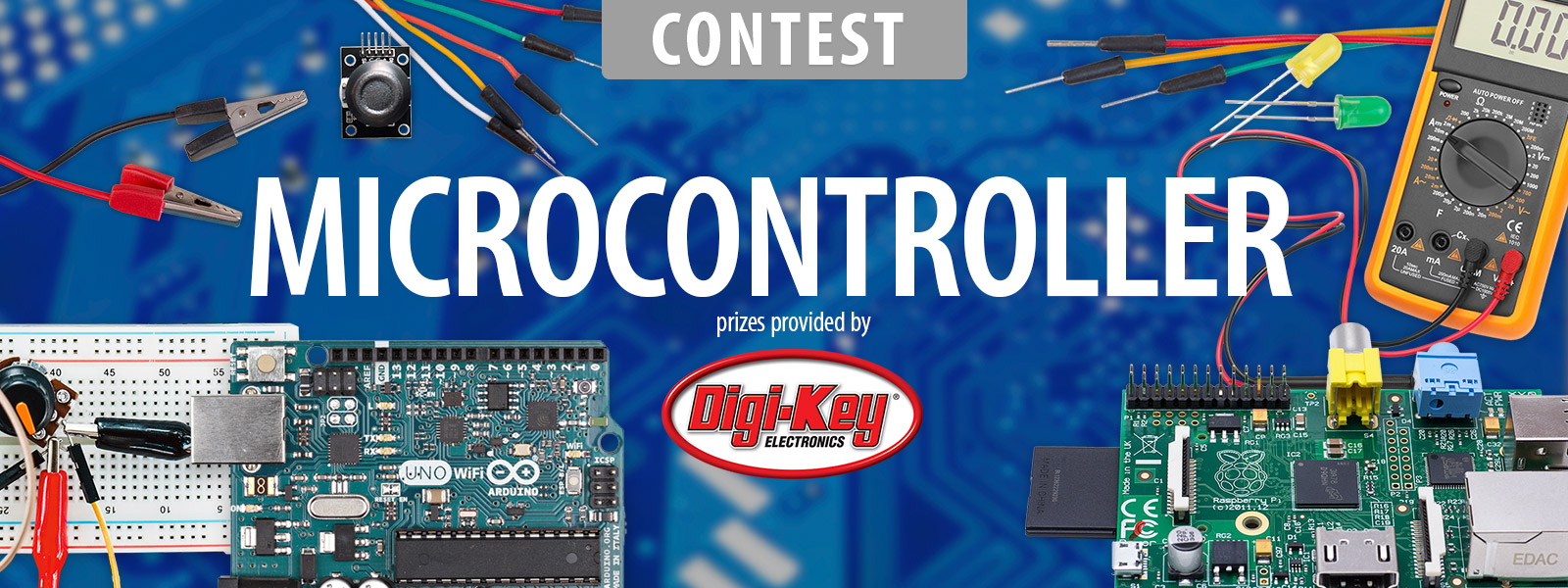 Microcontroller Contest 2017 Or Photo Of Computer Electronic Circuit Cpu Board Breaking Binary Code