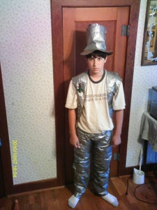 How to Make a Duct Tape Suit ( Pants, Vest, Top Hat, Rose).