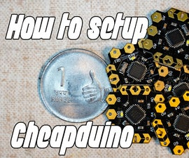 How to Setup Cheapduino Board (smallest Arduino)