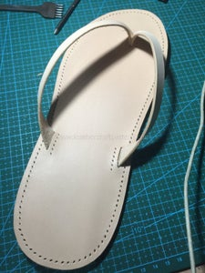 Use Groover to Make Groove Along the Stitching Line, Then When You Sew, the Thread Will Be in the Groove, the Thread Won't Be Worn Out, Punch Stitching Holes in Groove Use Chisel.