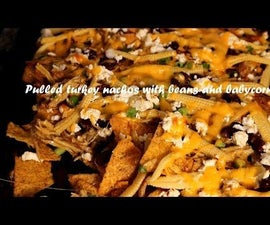 Pulled Turkey Nachos With Beans and Babycorn Recipe