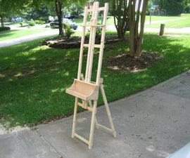 HOW I BUILT AN ART EASEL FOR FREE