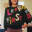 How to Make a Motto Holiday Sweater With Felt Lettering