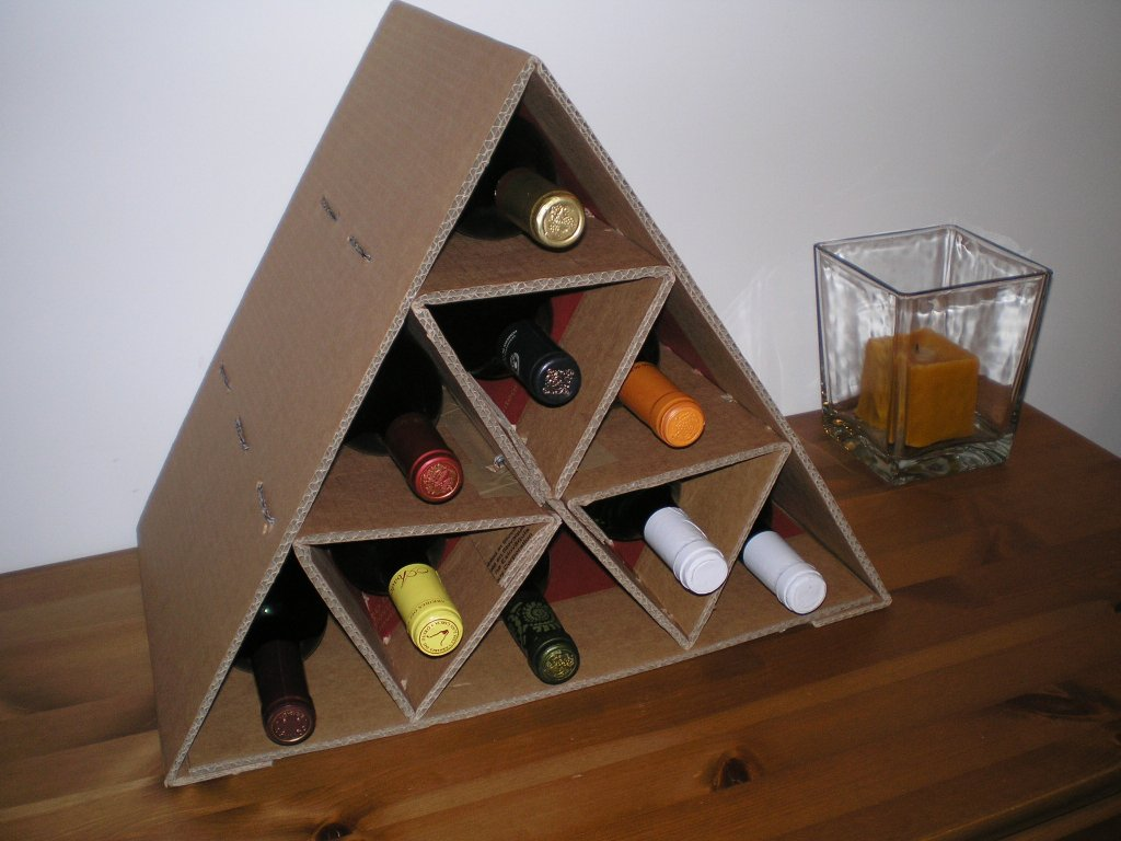 Picture of Cardboard Wine Rack