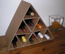 Cardboard Wine Rack