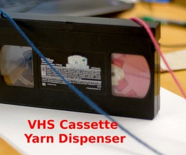 VHS Cassette Yarn Dispenser!