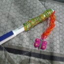 How to make a Rubberband Pencil grip with no loom..(New style)