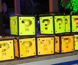 Super Mario mystery block lamp in cardboard!!!