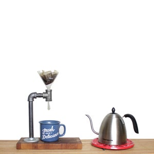 End Grain Coffee Pour Over Station