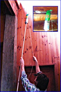 """""""High Spray"""" Extension Handle to Spray Bugs Up High."""