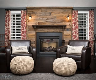 Barn Wood Fireplace Mantle