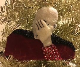 Facepalm Christmas Ornament