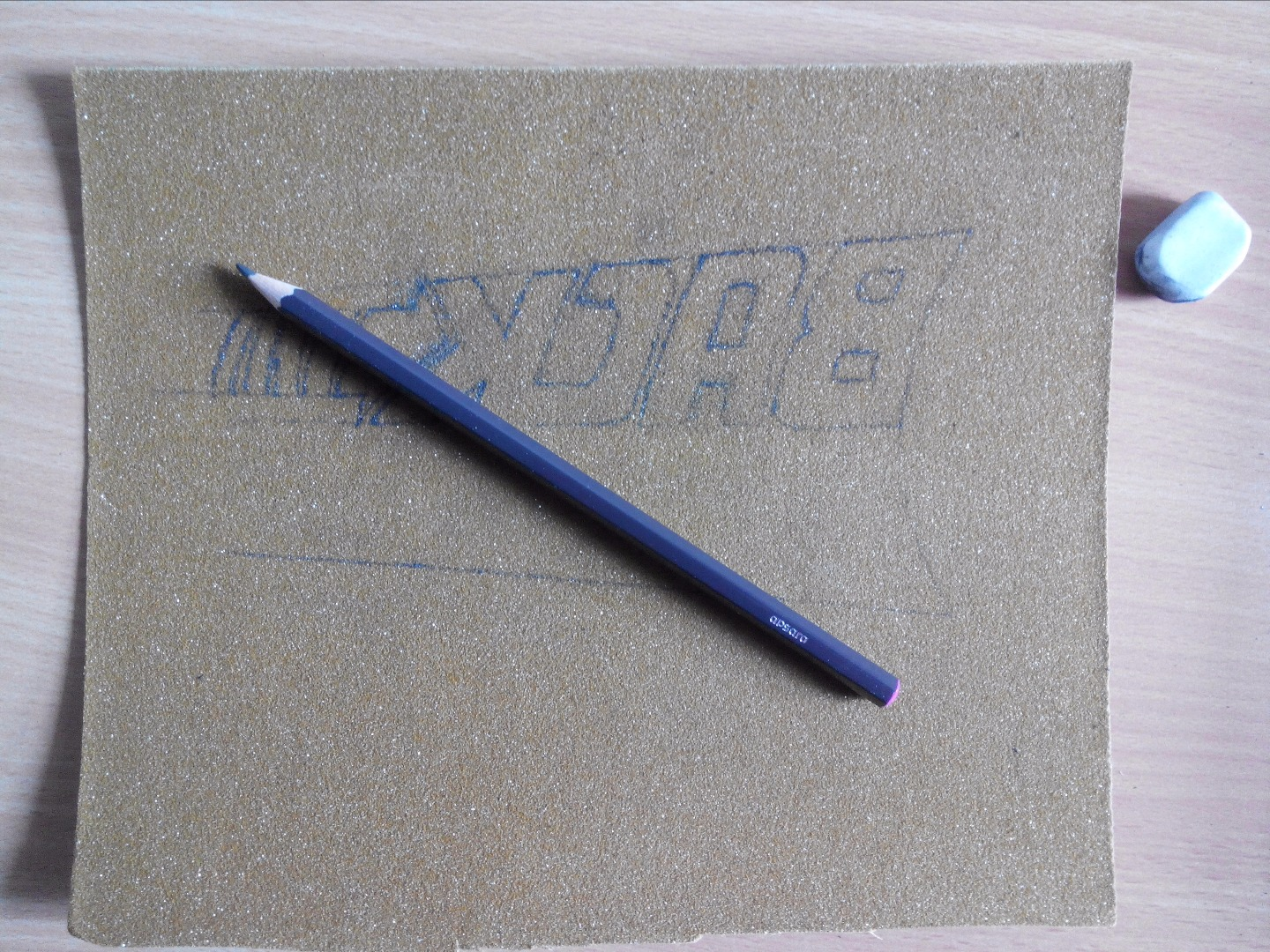 Picture of Transfer the Picture on the Sandpaper