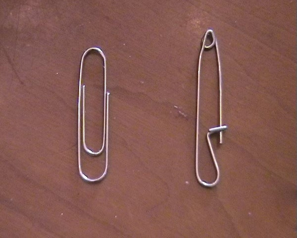 Make a Safety Pin From a Paperclip!