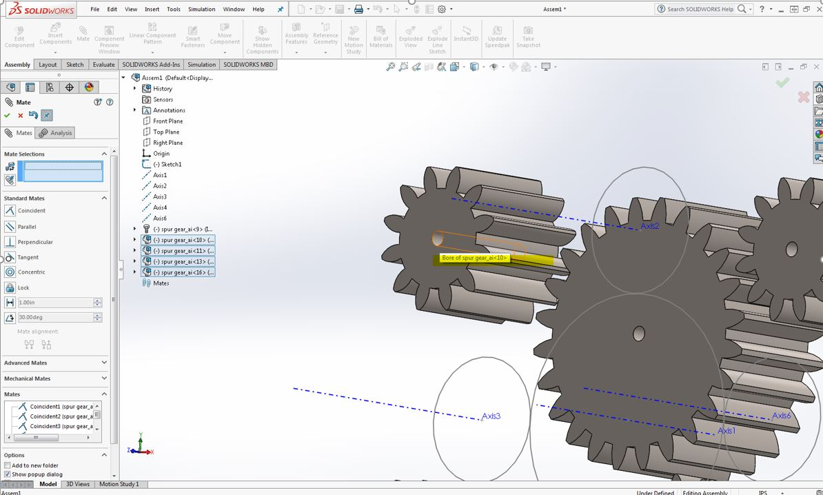 Picture of Part 4: Mating Gears to Sketch