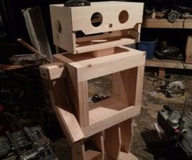 Wooden Robot Entertainment Stand