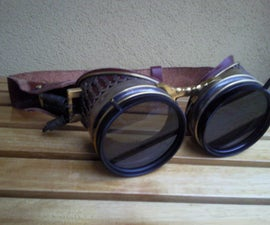 Goggle in Steampunk Style with use as 3D or sunglasses