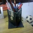 Cheap Pen Holder from trash floppy disks