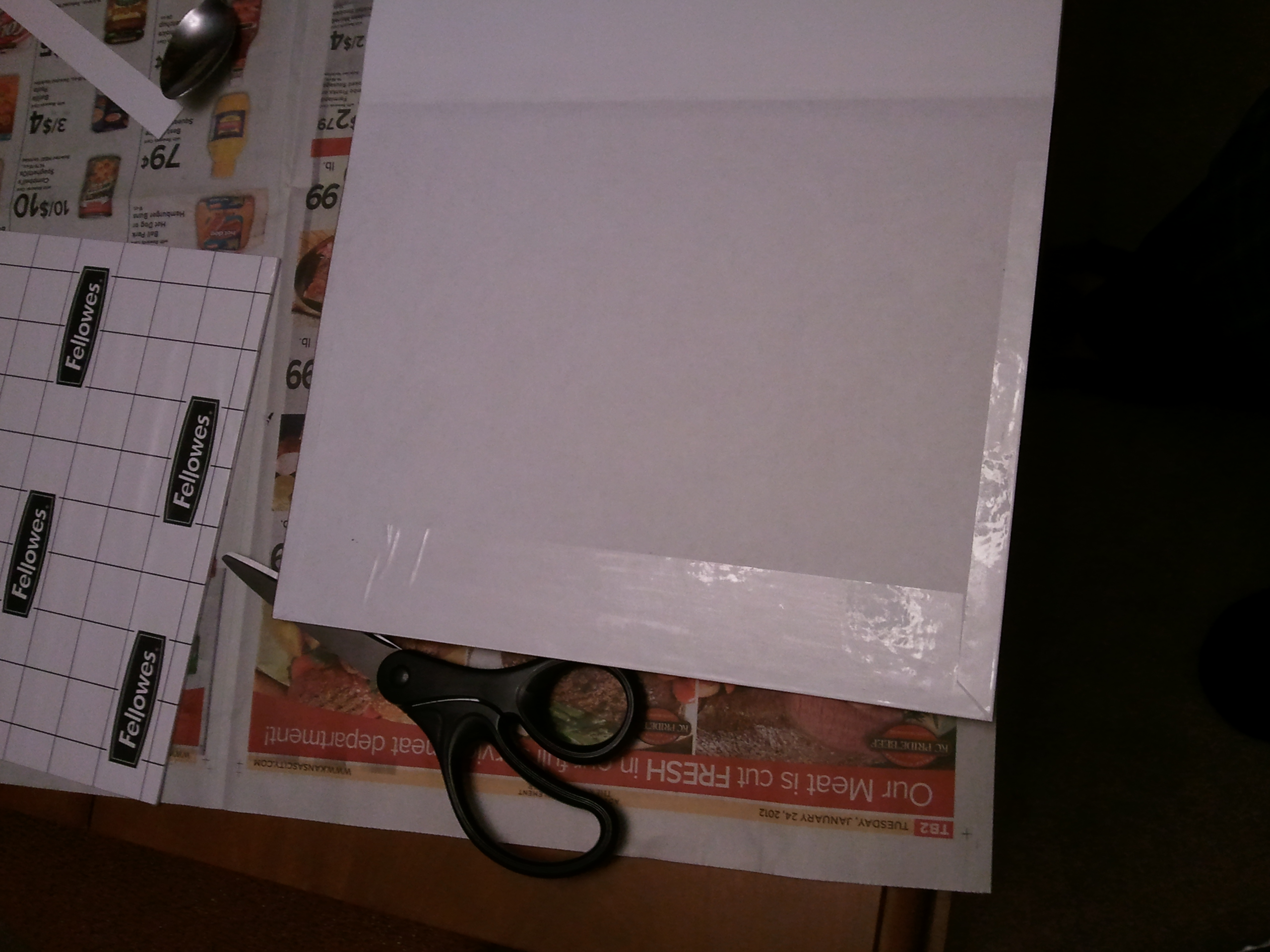 Picture of Apply Contact Paper and Duct Tape