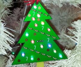 LED Circuit Board Christmas Tree Ornament