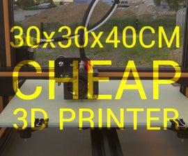 Cheap 30x30x40cm 3D Printer