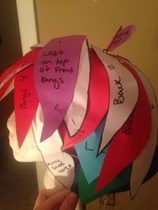 Place Template Pieces on Wig Head