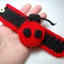 Crochet a Girl's Ladybug Cuff Bracelet