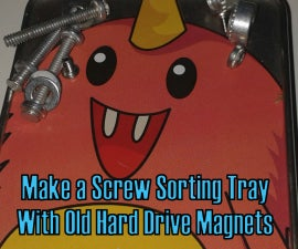 Make a Magnetic Hardware Sorting Tray From Hard Drive Magnets