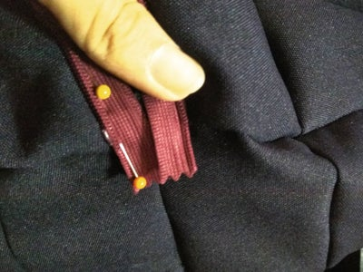 Sewing on the Zipper