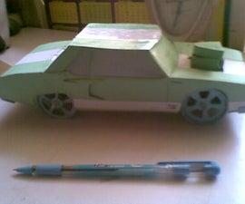card board muscle car