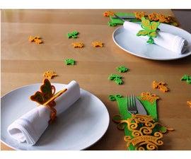 Laser Cut Summer Felt Table Decorations