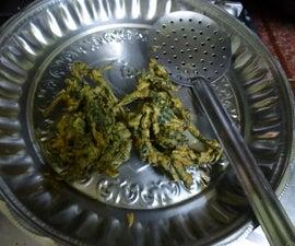 Colocasia Pakoda (Crispy Fried Fritters)