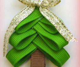 Christmas Tree Hairbow Clip--Step By Step Instruction