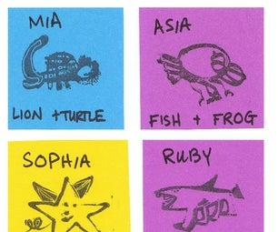 HYBRID CREATURES: DIY Ink Stamps - 1st Grade Tinkering - Week 10