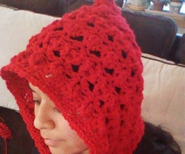 Red Riding Hood Hooded Scarf
