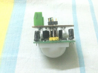 Now Solder the Header & Join the PIR