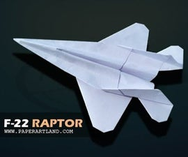 How to make the F22 Paper Plane that Flies