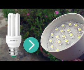 Convert Your Old CFL Lamp to LED Lamp